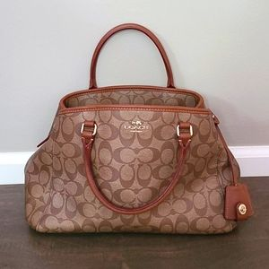 COACH Brown/Tan Signature Handbag